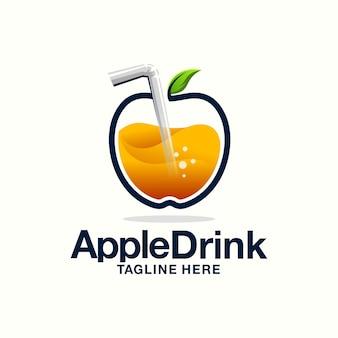 Logo de jugo de manzana