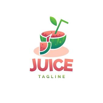Logo de jugo de sandia
