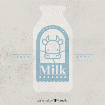 Logo de leche orgánica