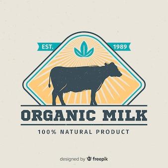 Logo leche silueta vaca