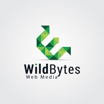Logo de letra e verde