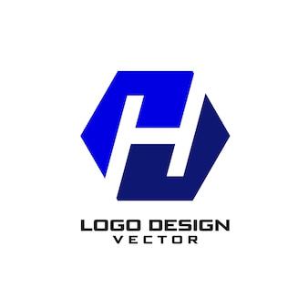 Logo de letra h abstracto