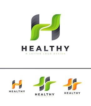 Logo letra h verde