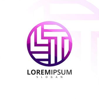 Logo letra l y t