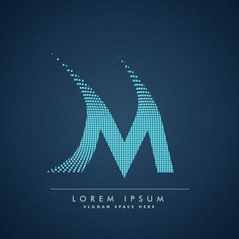 Logo de letra m a cuadros