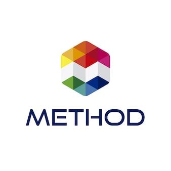 Logo de letra m con diseño geométrico