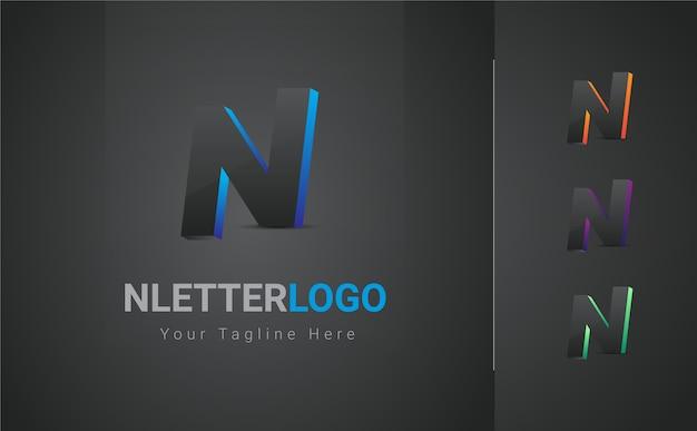Logo de letra n colorido