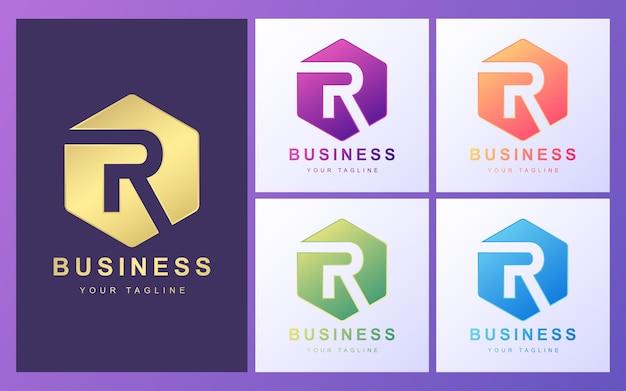 Logo de letra r colorido con un concepto moderno