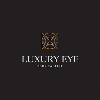 Logo line lujo ojo