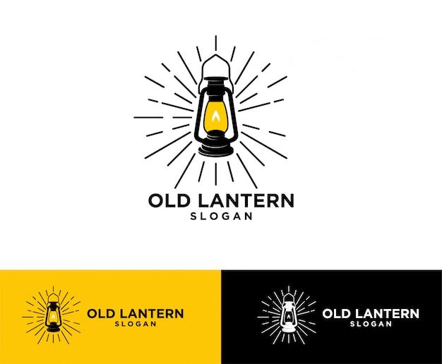 Logo de linterna vintage