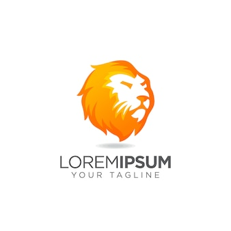 Logo de lion head elegante
