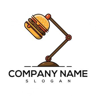 Logo de luces de hamburguesa
