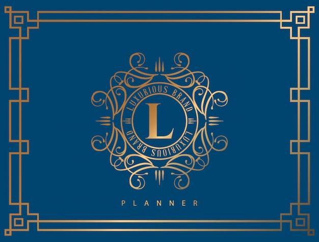 Logo de lujo con dorado