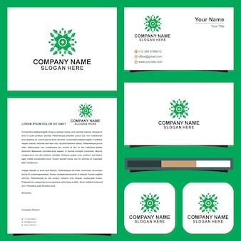 Logo mandala ornamento y tarjeta de visita