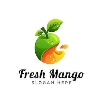 Logo de mango fresco