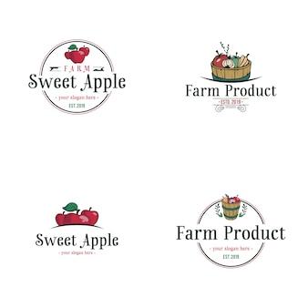 Logo de manzana vintage