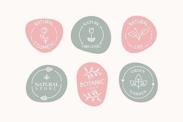 Logo de marketing colección colores pastel