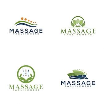 Logo de masaje
