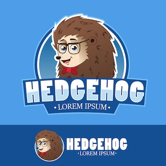 Logo mascot cute hedgehog