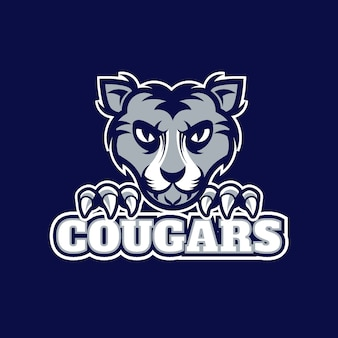 Logo de mascota animal salvaje