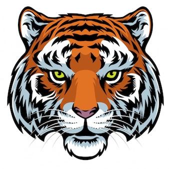 Logo de mascota cabeza de tigre