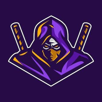 Logo de la mascota ninja