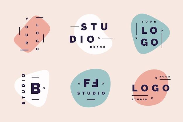 Logo minimalista en colores pastel
