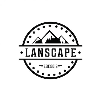 Logo minimalista de montaña
