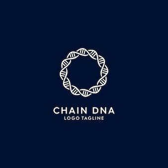 Logo moderno de cadena de adn