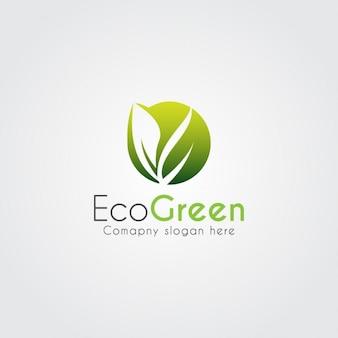 Logo moderno ecológico de hoja abstracta