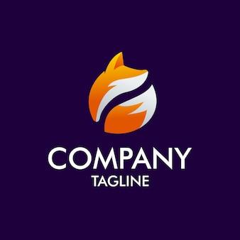 Logo moderno de fox