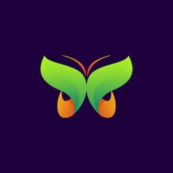 Logo moderno de mariposa