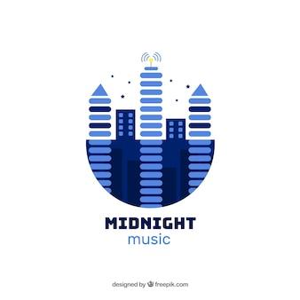 Logo moderno de música