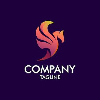 Logo moderno de phoenix