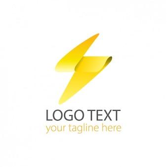 Logo moderno de rayo