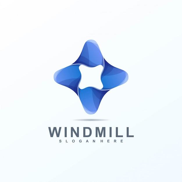 Logo de molino de viento