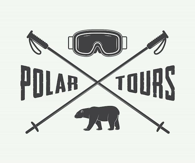 Logo de montañismo ártico