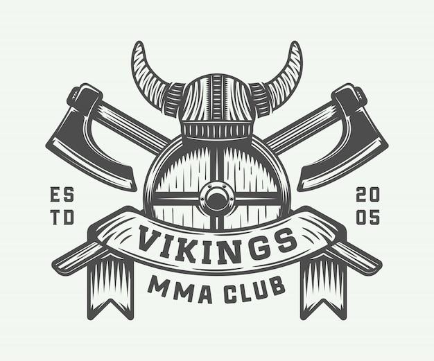 Logo motivacional vikingos