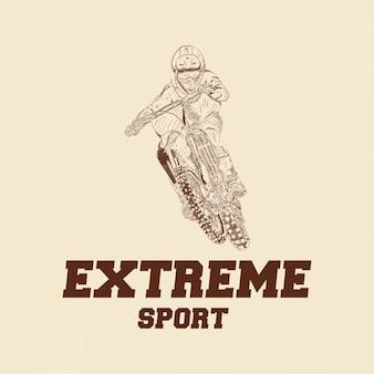 Logo de motocross rider badge