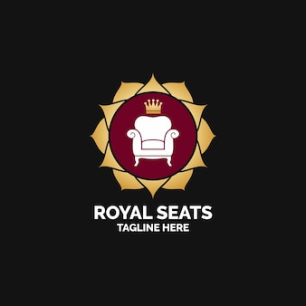 Logo de muebles con sillón