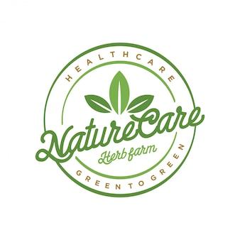 Logo para la naturaleza y la medicina tradicional.