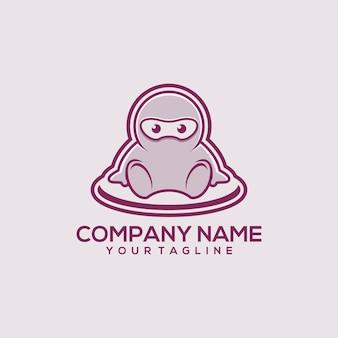 Logo de ninja bebé