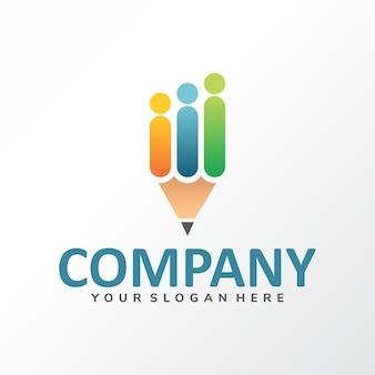Logo nombre de la compañía educación