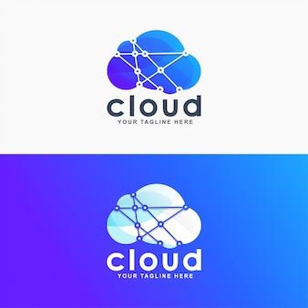 Logo de nube de degradado