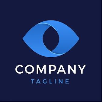 Logo de ojo abstracto