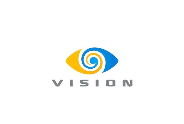 Logo de ojo aislado en blanco