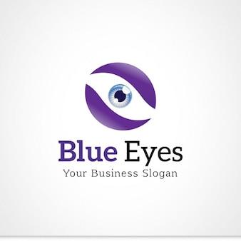 Logo de ojos azules
