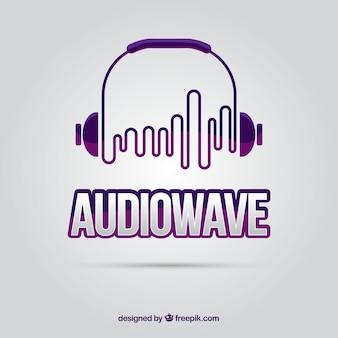 Logo de onda de sonido