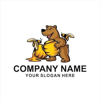 Logo de oso de miel