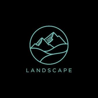 Logo de paisaje